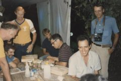 Lepidoptery (butterfly) research team at Selva Verde, c. 1986.jpg